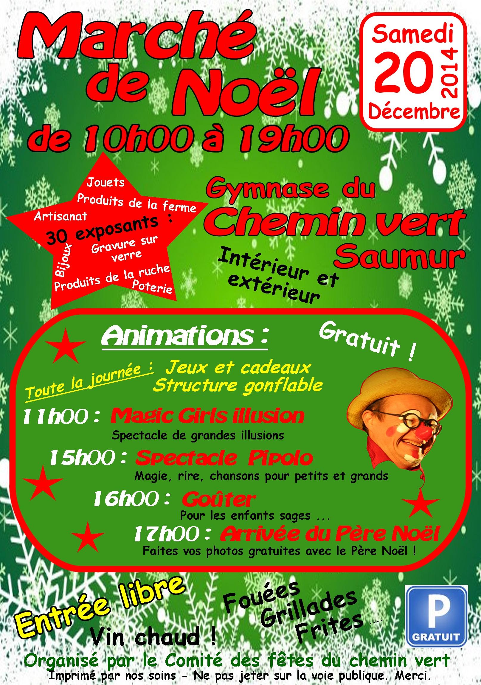 Populaire Comité des fêtes du Chemin vert : Marché de noël 2014 PF84